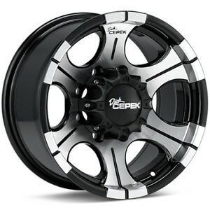 17x9 -12 offset 8x170 Ford   Clearance Dick Cepek DC2 Set of rim