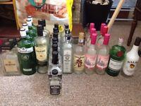 Job Lot of 28 Empty Wine & Spirit Bottles (Mixed Lot).