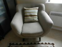 Perfect Scandinavian Inspired Retro Style Contemporary Chair with wooden legs, VGC, £145.00 ONO