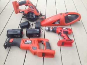 kit black in decker fire storm 18 volts