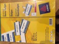 NEW Labels for Name Badges - Sealed