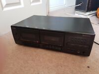 Goodmans GSW 650 Stereo Twin Cassette Deck Player- TESTED FULLY WORKING