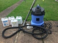 Numatic professional carpet cleaner with Prochem cleaning soloutions