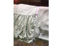 Double Valance and Fitted Sheet Peppermint Green