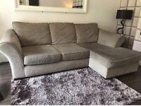 Next Beige Left Hand Corner Sofa