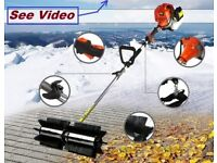 Rotating Sweeper Brush snow blower leaves road path washer lawn leaf vacuum vac suction broom astro