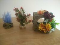Fish tank including pump, gravel, accessories, Fish Water treatment and Fish food.