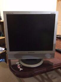 Desktop Monitor from Samsung and Logitech Web Cam