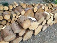 Soft wood split logs, firewood. Two bags for £90 delivered