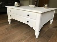 White shabby chic French style coffee table