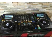 CDJ 2000 Nexus 2 (Pair) and DJM 900 Nexus 2 (Boxed - Immaculate)