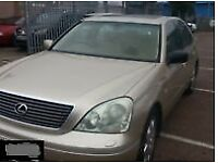 LEXUS LS430 4.3 V6 PETROL 2003 BREAKING FOR SPARES AND REPAIRS