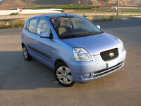 Blue Kia Picanto 2005. 13 months MOT!