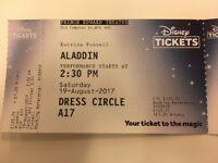 Aladdin Tickets London, Saturday 19 August - x2 £75 per ticket (Face Value £123!)