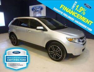 2014 Ford Edge SEL  AWD GR.DECOR GPS TOIT, FORD CERTIFIÉ 1.9%