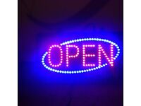 Open shop advertising sign flashing led s
