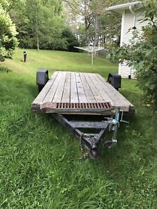 14' flat deck trailer- perfect for 2 atvs