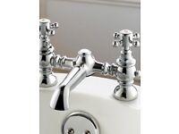 Victorian style bath mixer taps