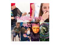 There's no party like a Project Pixie Party- Face Painting, Glitter Bar, Hula Hoop and much more!