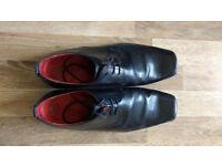 NEXT ITALIA leather Black shoes, Size 10 (EUR 44)