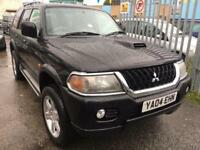 MITSUBISHI SHOGUN SPORT 2.5 TDI WARRIOR DIESEL MANUAL BLACK 2004 LEATHER SEATS