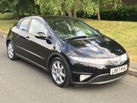 2007 Black Honda Civic 1.8 i-VTEC Sport Hatchback 5dr Hatchback Manual Petrol - P/X Welcome