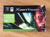 Nvidia GeForce FX5200 128MB Graphics card - BNIB