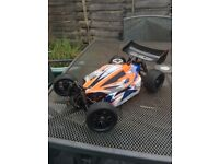 Nitro RC race buggy, 1/10 scale, RTR with all extras. VGC