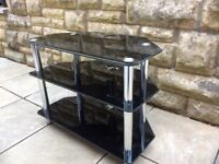 T V Glass Black Cabinet