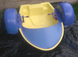 Kids Hand Pedalo or Pedal Boat Turbo Paddler / hand cranking boat