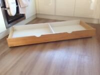 Slide under bed /Cot storage drawer on wheels