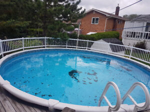 21' Above Ground Salt Water Pool with Accessories