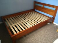 Great Wooden Double Bed
