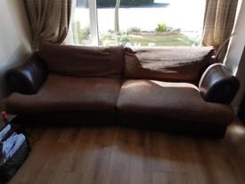 Long four seater sofa couch