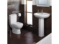Short projection toilet and basin £169