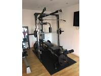 Multi Gym with Bench and extra weights