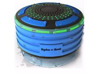 Shower Radios - Hydro-Beat Illumination. IPX7 portable fully Waterproof Bluetooth Speaker with built