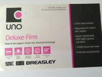 Breasley UNO Deluxe Firm DOUBLE MATTRESS - UNUSED