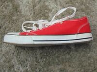 Red Dunlop Shoes, UK Size 7