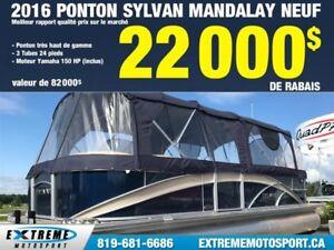 2016 SYLVAN MANDALAY 24 25 PIEDS 3 TUBE - PONTON 112,26$/SEMAINE