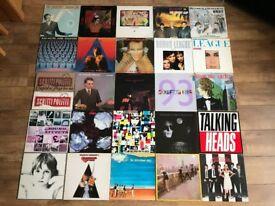 "JOBLOT 125 VINYL ALBUMS + 12"" SINGLES - NEW WAVE / INDIE / SYNTH POP / NEW ROMANTIC"