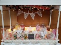 Sweets & Treats - Beautiful handmade wooden sweet cart for hire