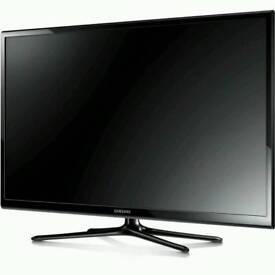 "43"" black samsung plasma tv with freeview"