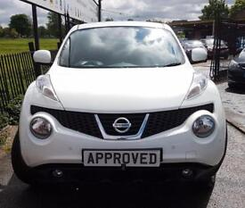 NISSAN JUKE 1.5 TEKNA DCI 5d 110 BHP Choice of 6 Available! FS (white) 2014