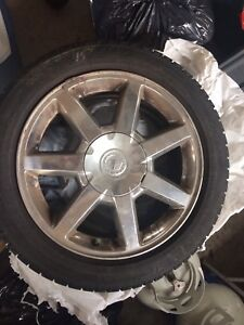 4 225/50r 17 Michelin X-Ice Tires with Cadillac Rims
