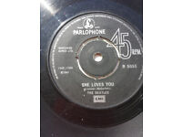 BEATLES SINGLE, SHE LOVES YOU and the cover of LOVE ME DO
