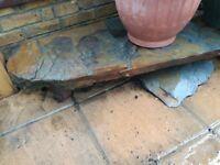 Large grey flint slab