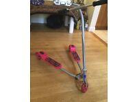 3 Wheeled Tri-Scooter, Slider Scissor Scooter