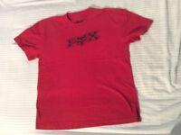 Boys FOX t-shirt. Red.