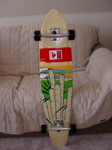 """NEW"" 42"" x 9"" Maple/Bamboo stringer Longboard - Visa, M/C, etc."